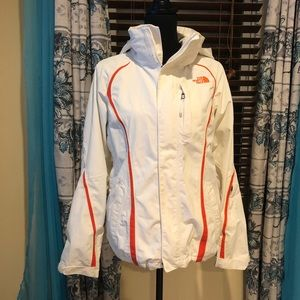 GUC White and Pink North Face Jacket shell